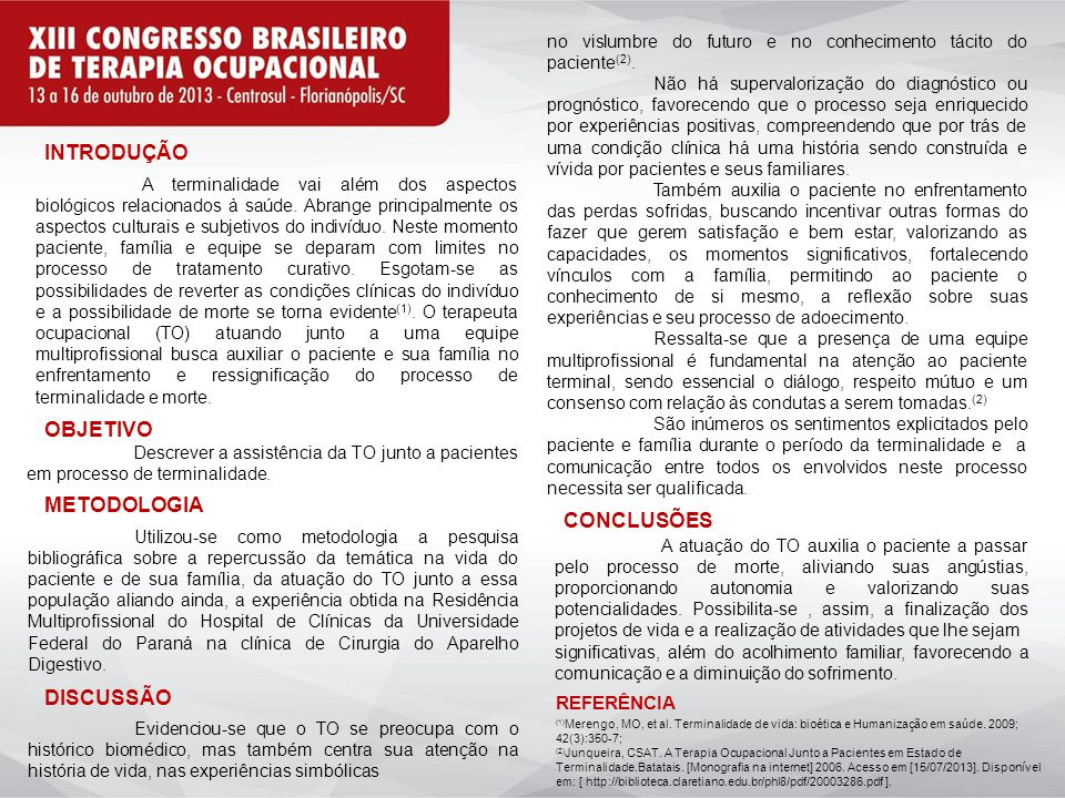 INTRODUÇÃO OBJETIVO METODOLOGIA CONCLUSÕES DISCUSSÃO REFERÊNCIA