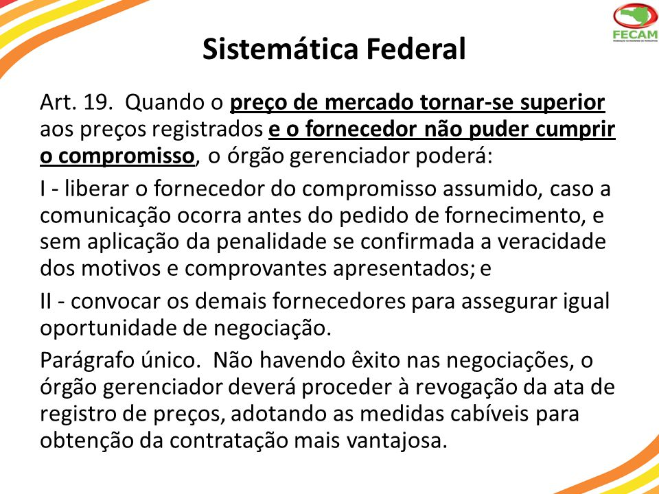 Sistemática Federal