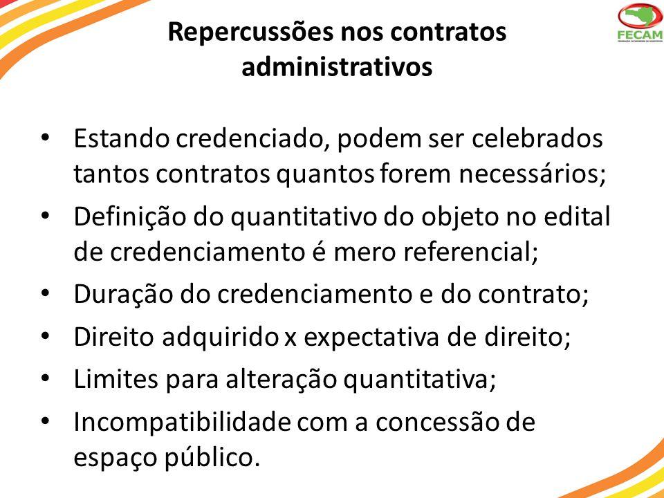 Repercussões nos contratos administrativos