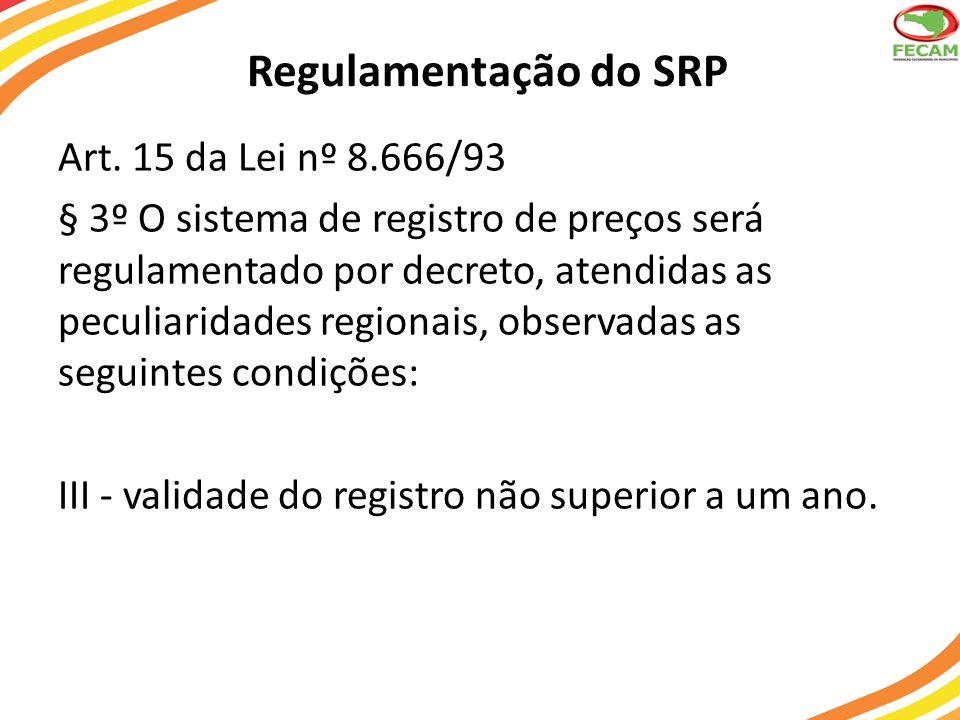 Regulamentação do SRP