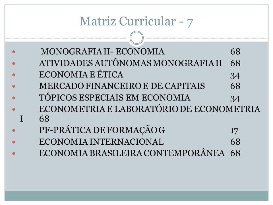 Matriz Curricular - 7 MONOGRAFIA II- ECONOMIA 68