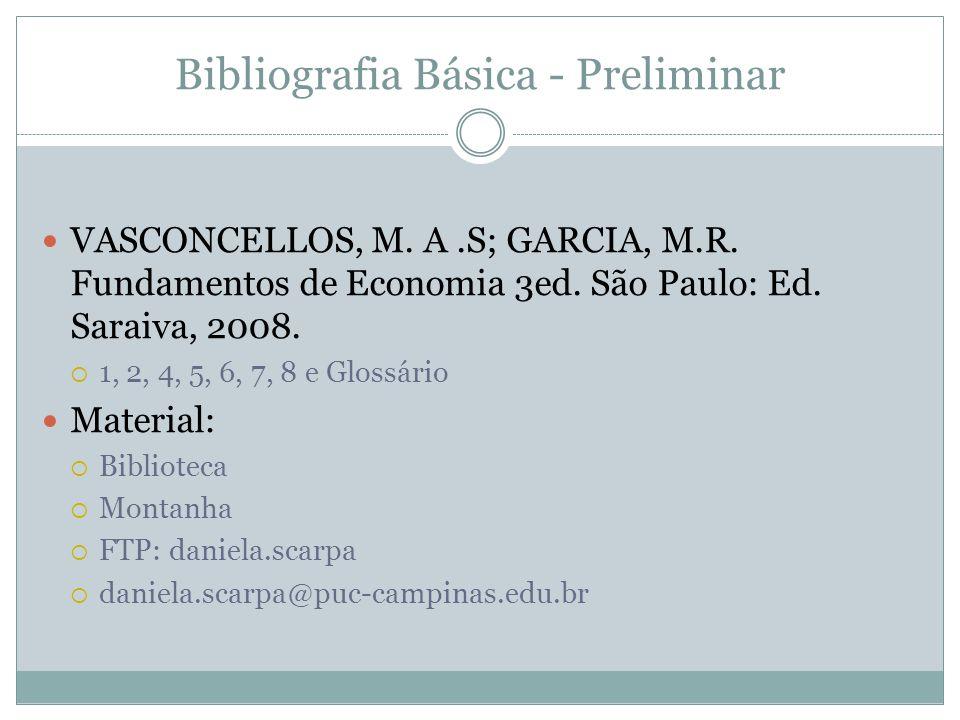Bibliografia Básica - Preliminar