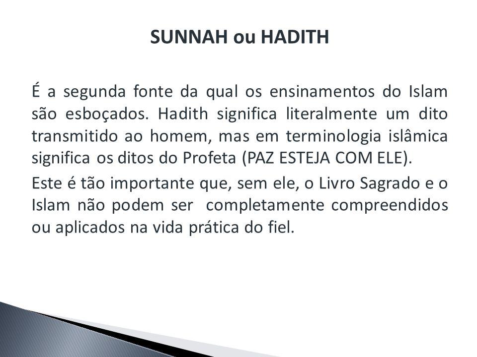 SUNNAH ou HADITH