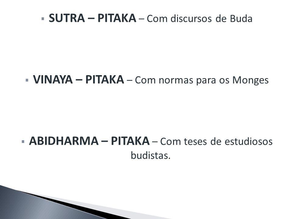 SUTRA – PITAKA – Com discursos de Buda