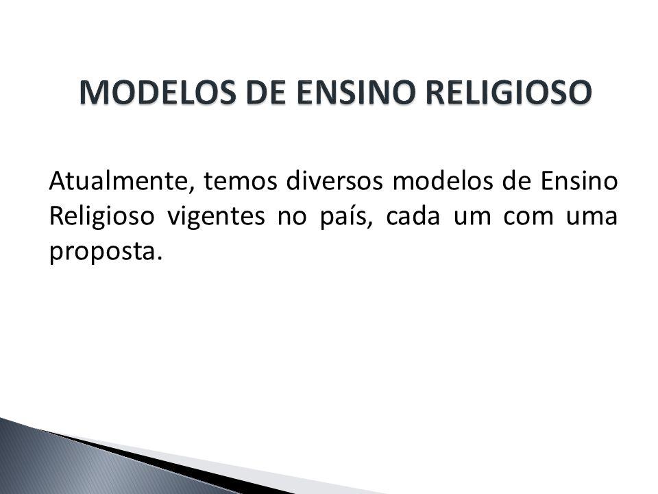 MODELOS DE ENSINO RELIGIOSO