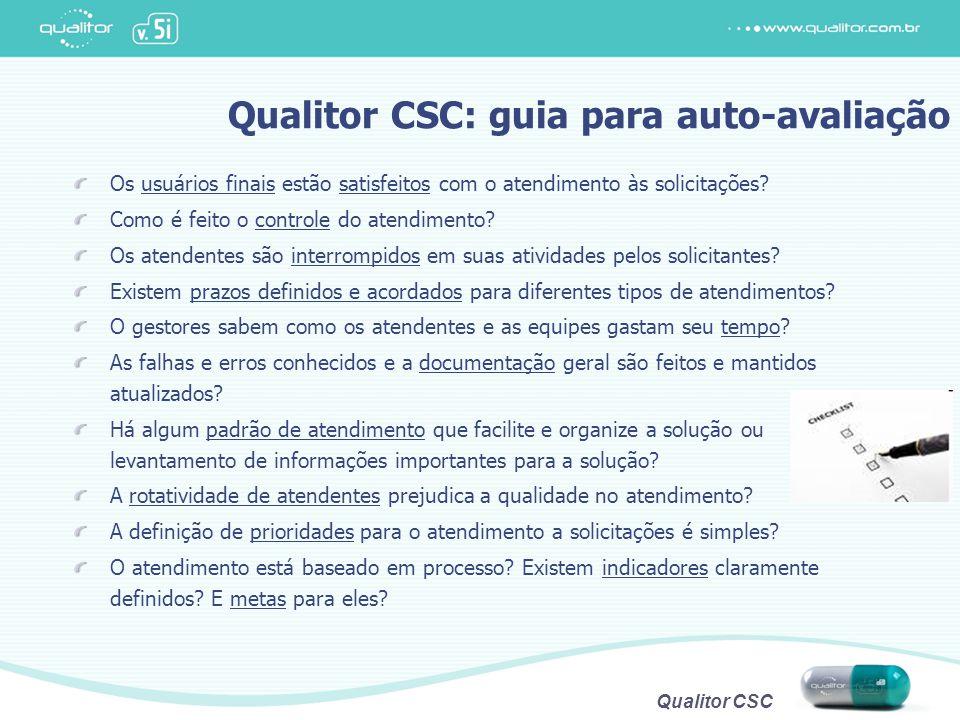 Qualitor CSC: guia para auto-avaliação