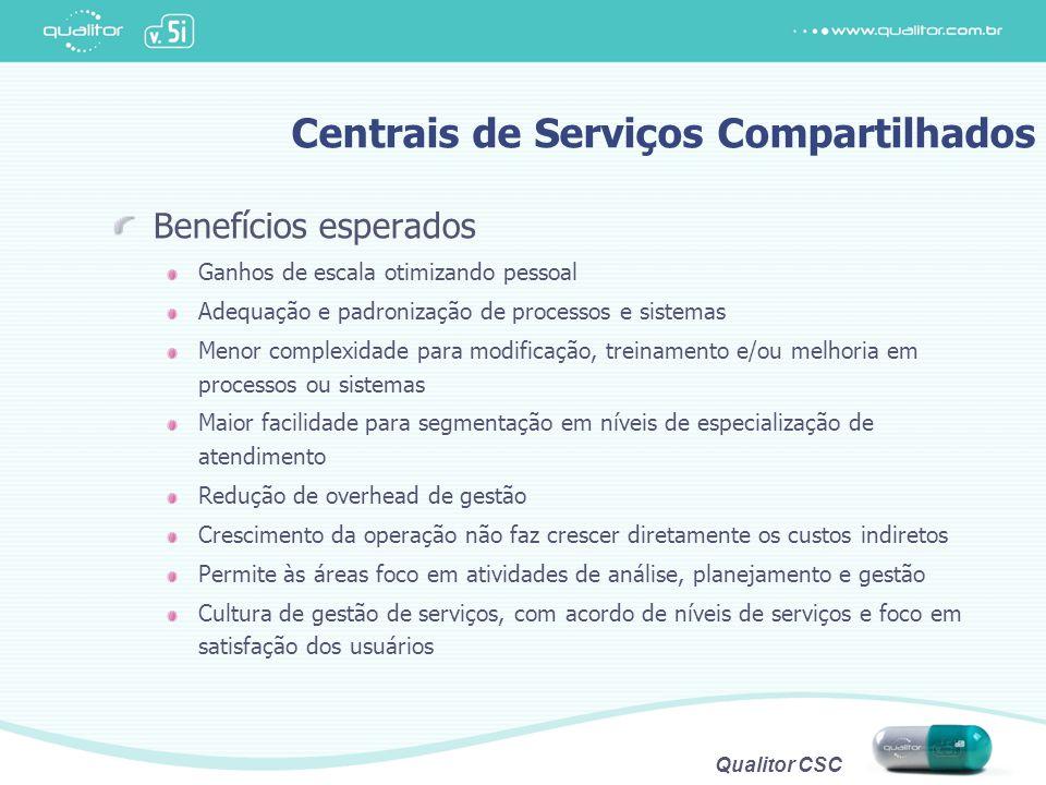 Centrais de Serviços Compartilhados
