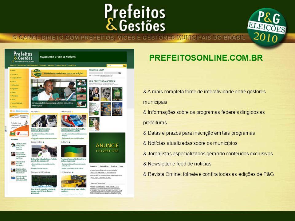 PREFEITOSONLINE.COM.BR & A mais completa fonte de interatividade entre gestores municipais.