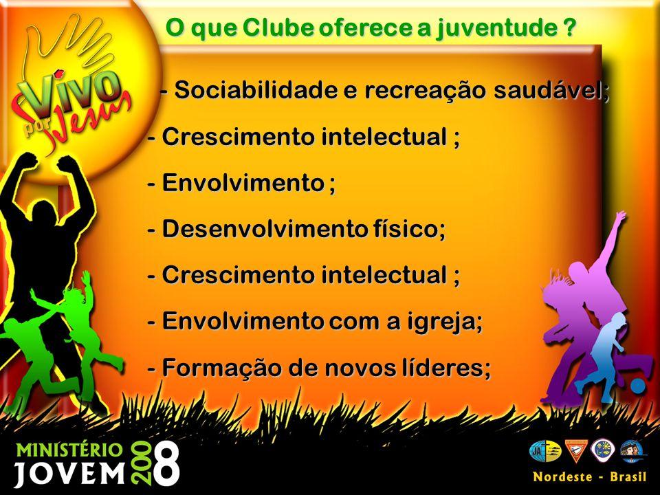 O que Clube oferece a juventude