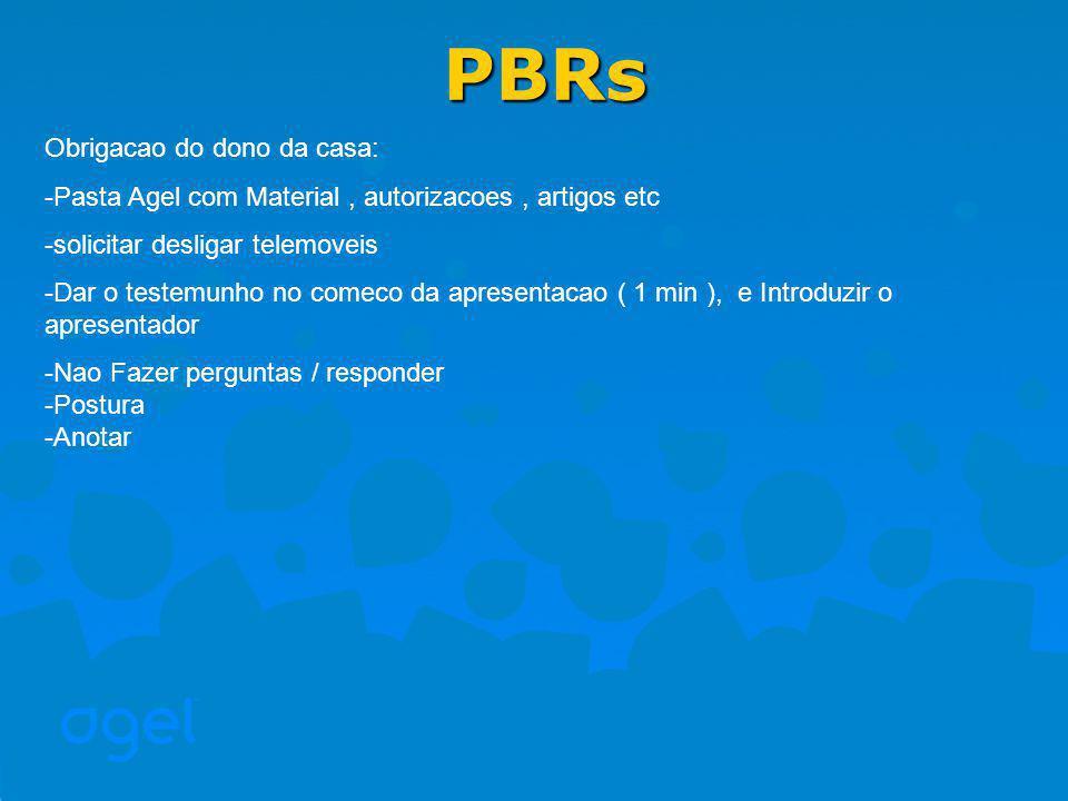 PBRs Obrigacao do dono da casa: