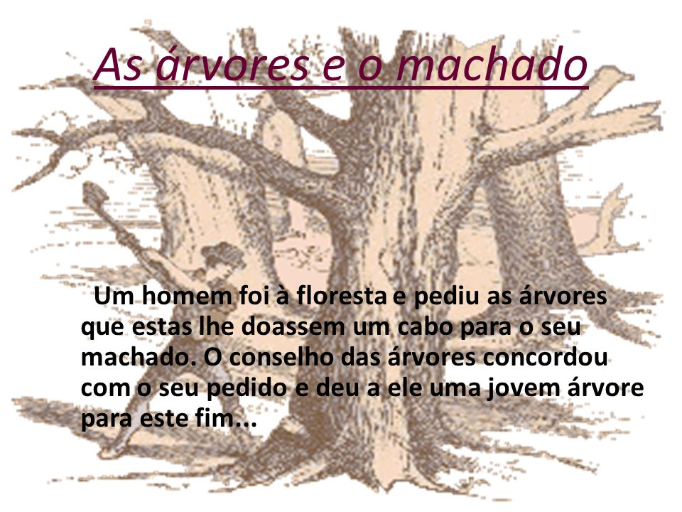 As árvores e o machado