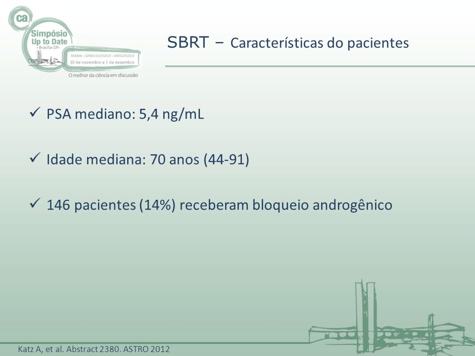 SBRT – Características do pacientes
