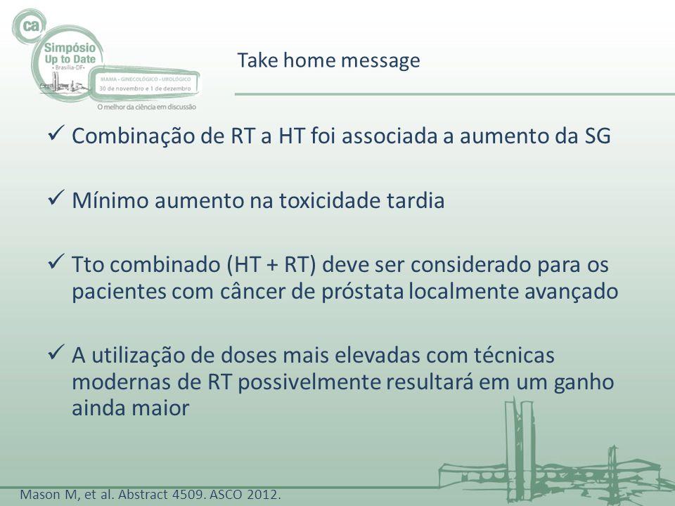 Combinação de RT a HT foi associada a aumento da SG