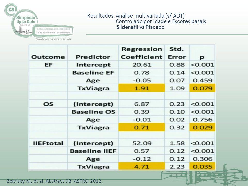 Resultados: Análise multivariada (s/ ADT)