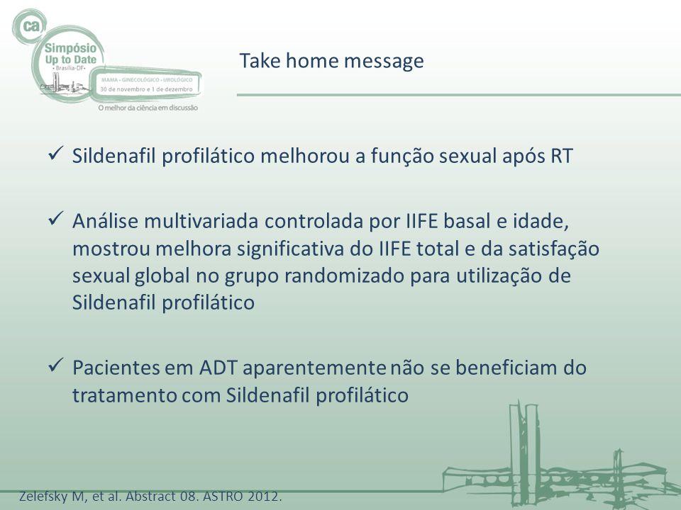 Sildenafil profilático melhorou a função sexual após RT