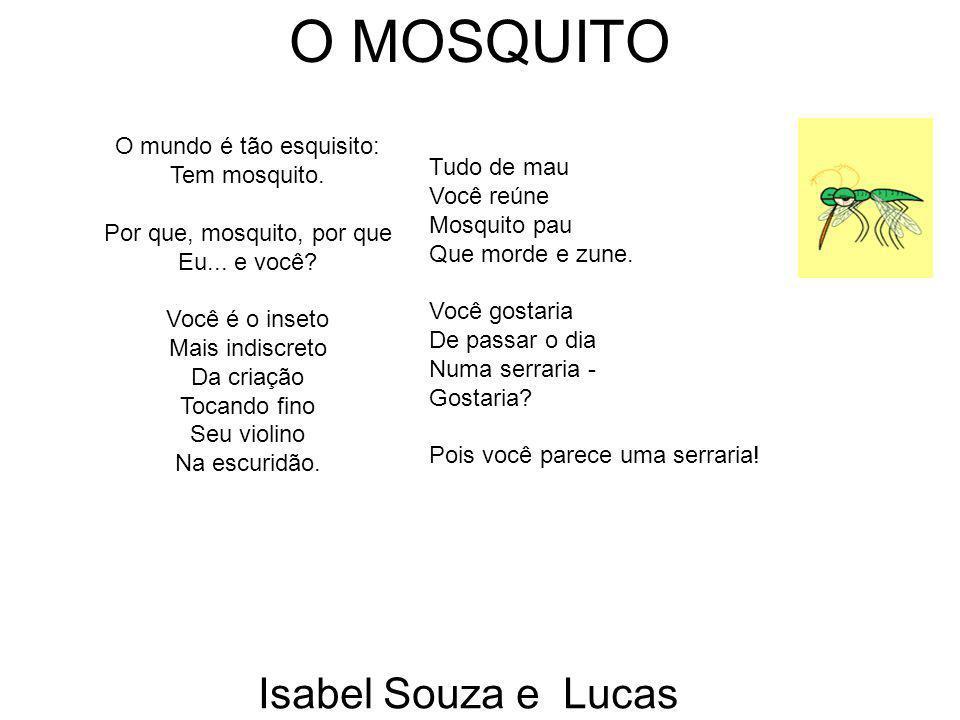 O MOSQUITO Isabel Souza e Lucas