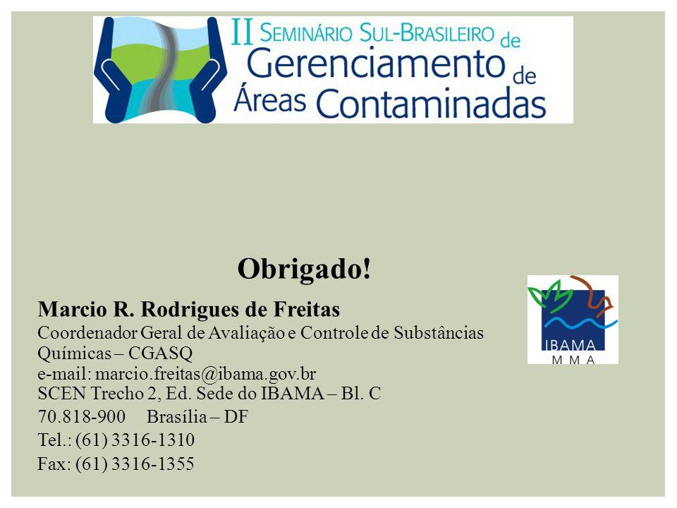Obrigado! Marcio R. Rodrigues de Freitas