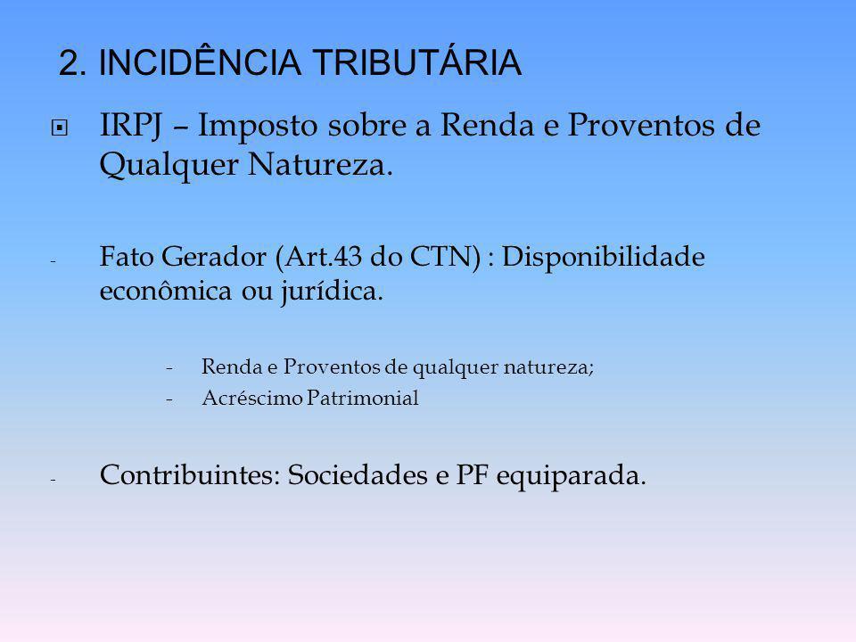 2. INCIDÊNCIA TRIBUTÁRIA
