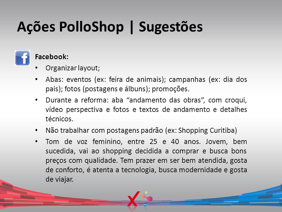 Ações PolloShop | Sugestões