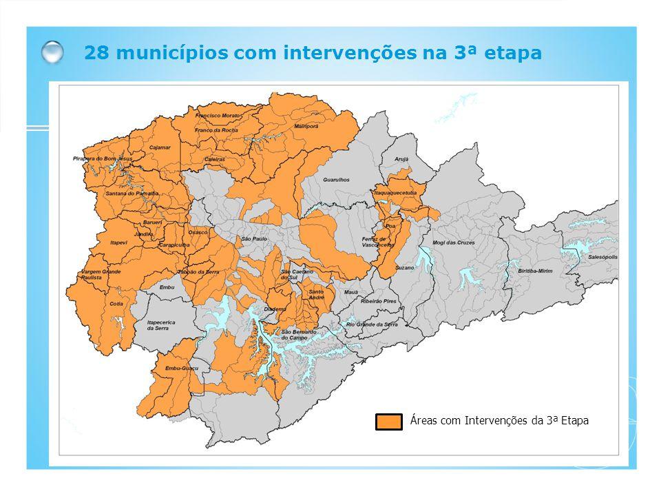 28 municípios com intervenções na 3ª etapa