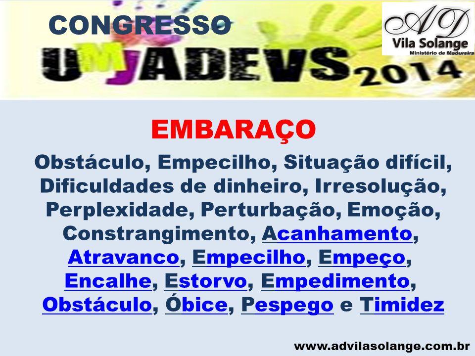 EMBARAÇO CONGRESSO EMBARAÇO
