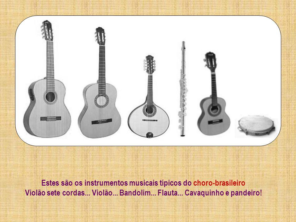 Estes são os instrumentos musicais típicos do choro-brasileiro