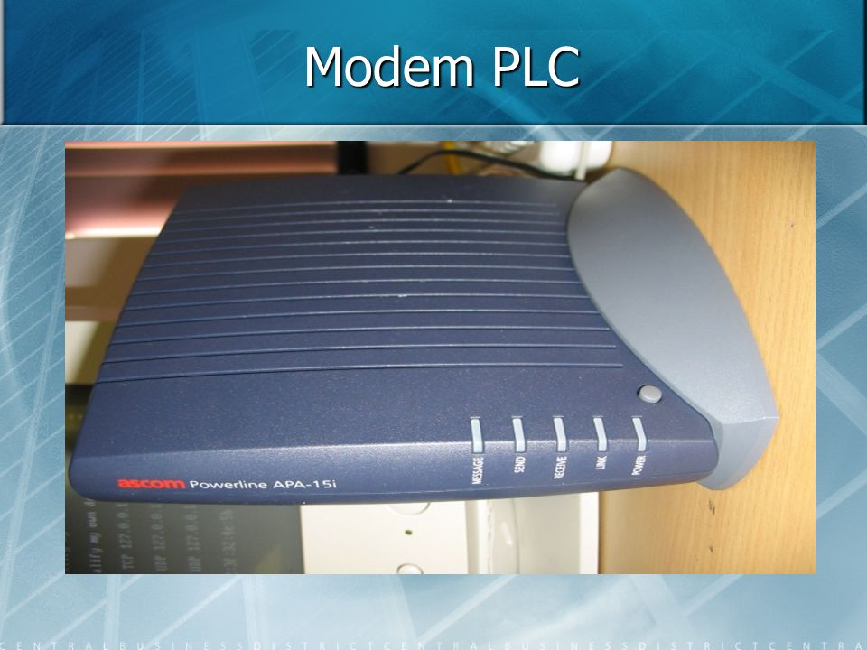 Modem PLC