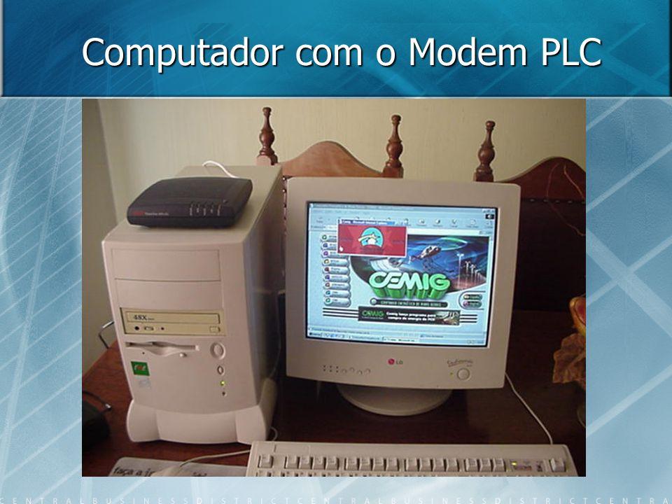 Computador com o Modem PLC