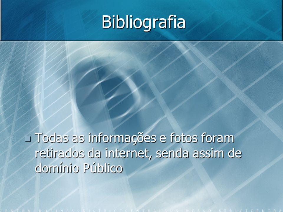Bibliografia Todas as informações e fotos foram retirados da internet, senda assim de domínio Público.