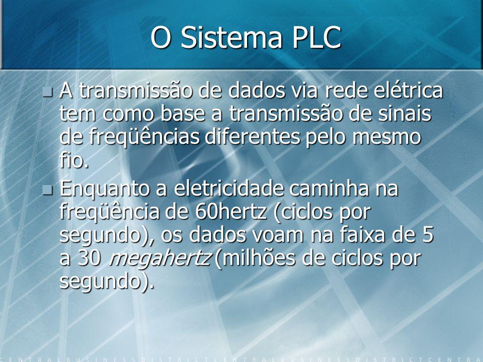 O Sistema PLC A transmissão de dados via rede elétrica tem como base a transmissão de sinais de freqüências diferentes pelo mesmo fio.