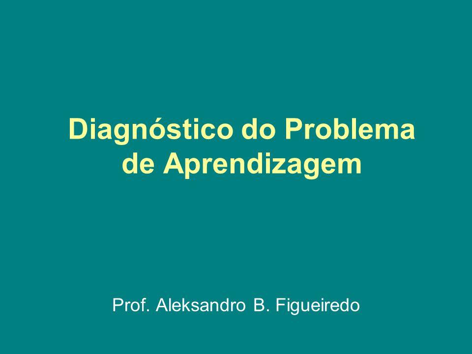 Diagnóstico do Problema de Aprendizagem