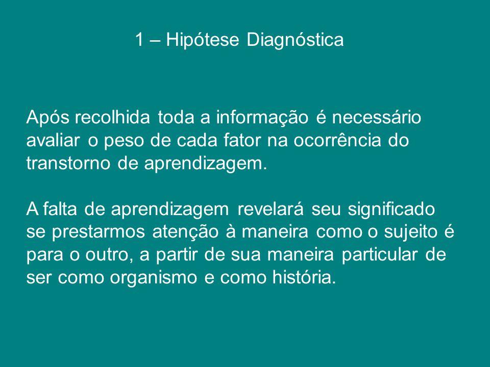 1 – Hipótese Diagnóstica