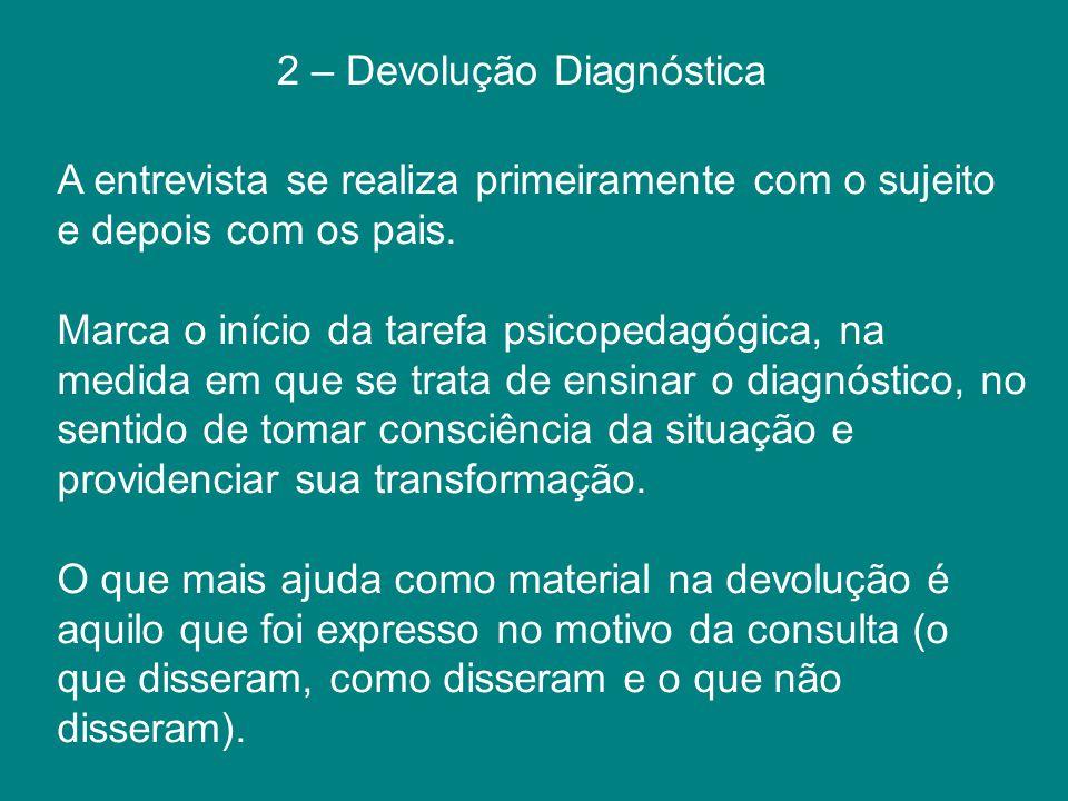 2 – Devolução Diagnóstica