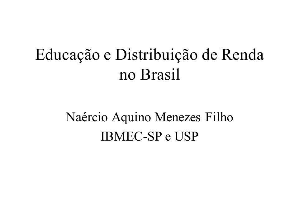 Educação e Distribuição de Renda no Brasil