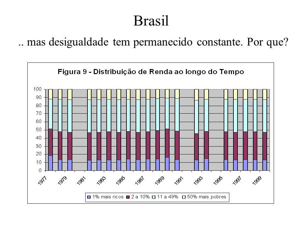 Brasil .. mas desigualdade tem permanecido constante. Por que