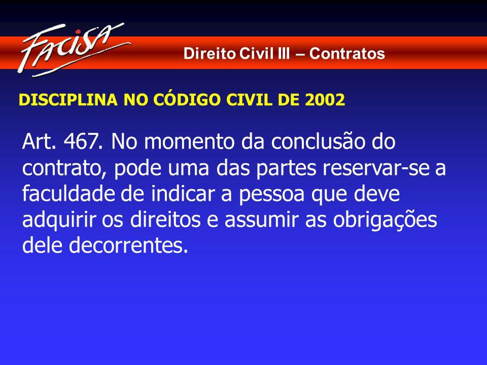Direito Civil III – Contratos