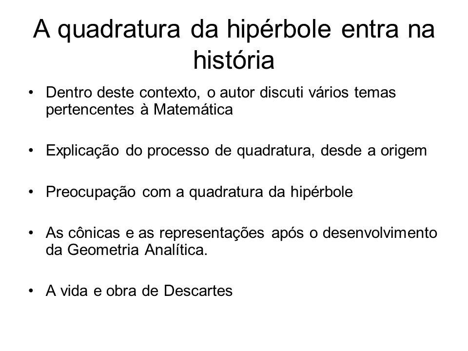 A quadratura da hipérbole entra na história