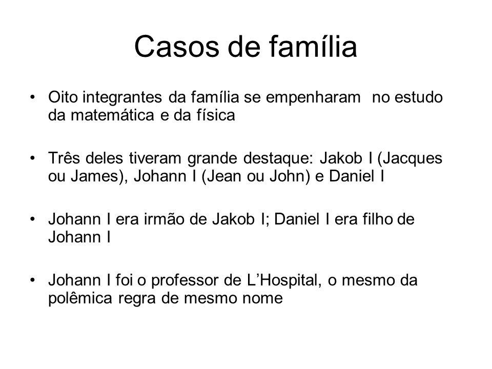 Casos de família Oito integrantes da família se empenharam no estudo da matemática e da física.