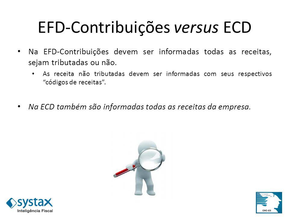 EFD-Contribuições versus ECD