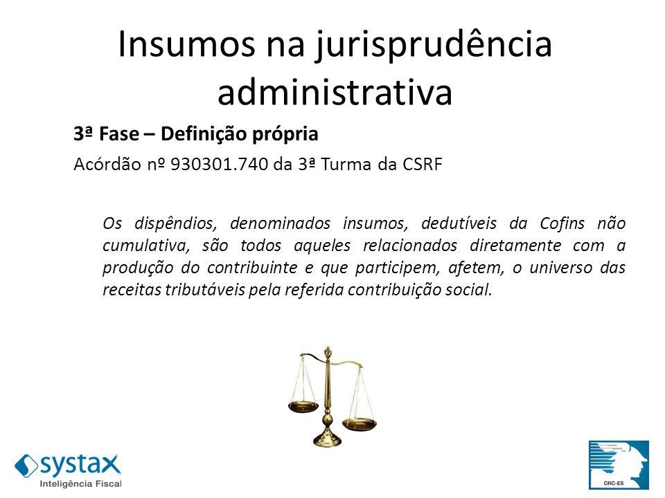 Insumos na jurisprudência administrativa