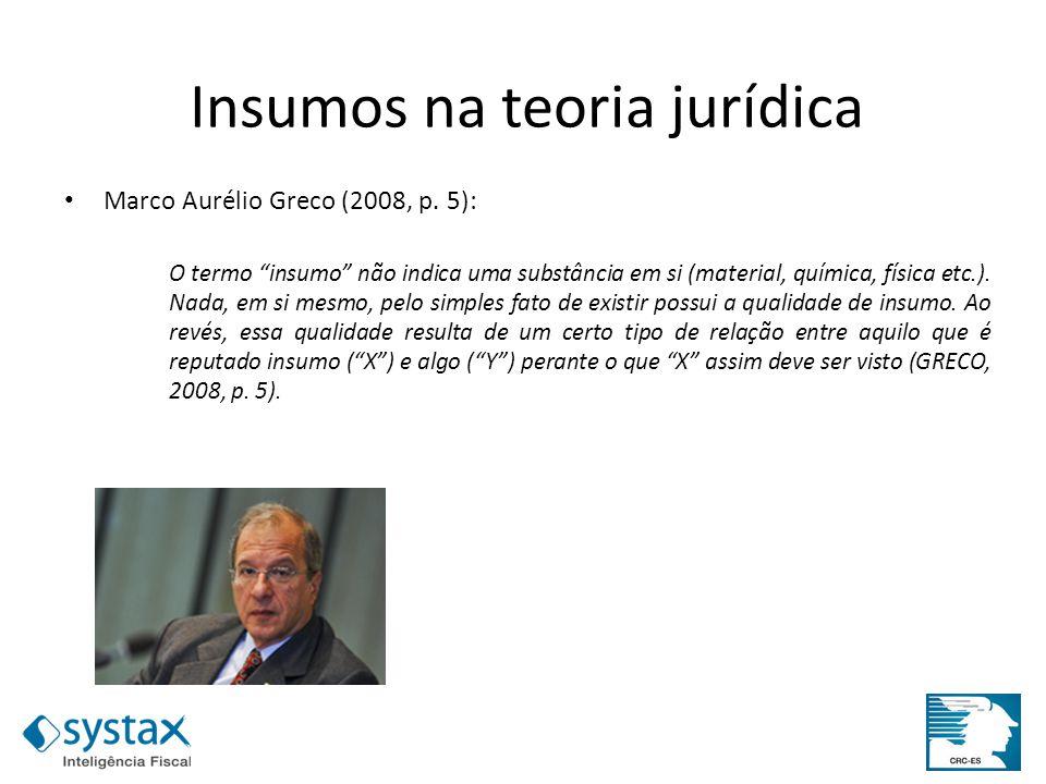 Insumos na teoria jurídica