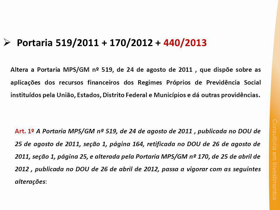 Portaria 519/2011 + 170/2012 + 440/2013