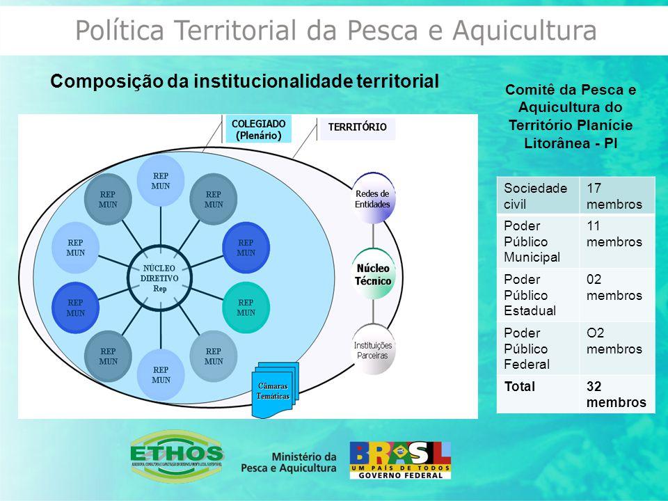Composição da institucionalidade territorial