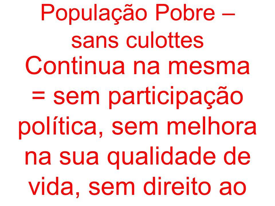 População Pobre – sans culottes