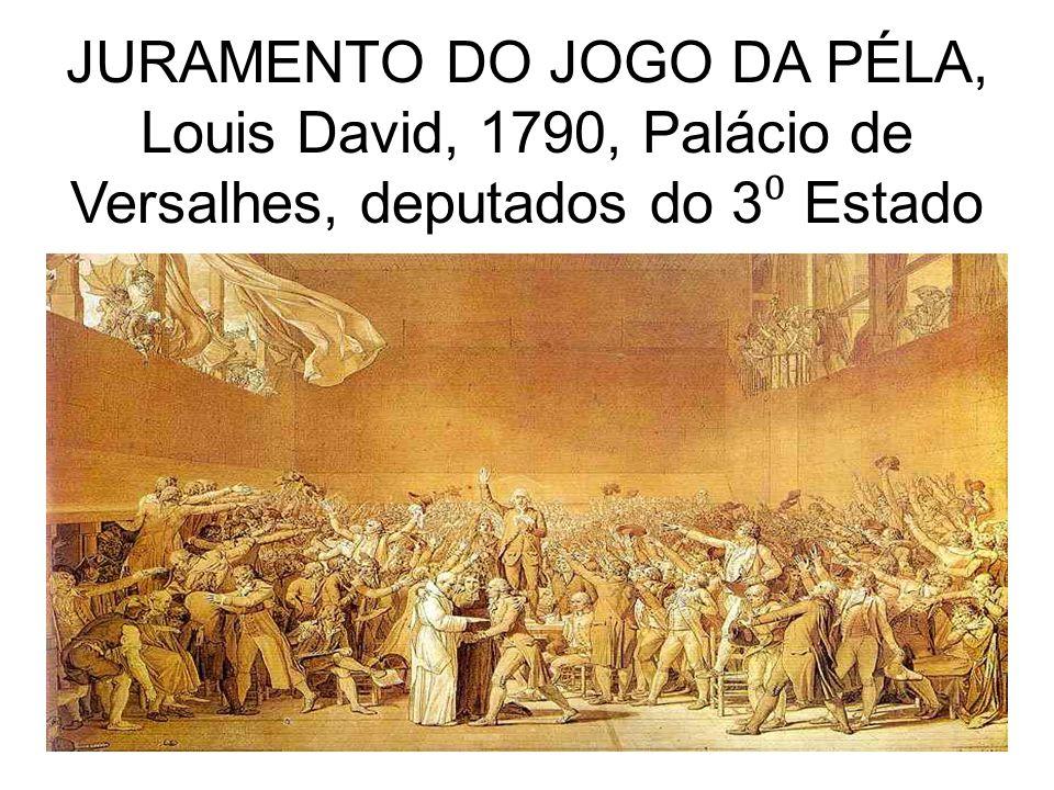 JURAMENTO DO JOGO DA PÉLA, Louis David, 1790, Palácio de Versalhes, deputados do 3⁰ Estado