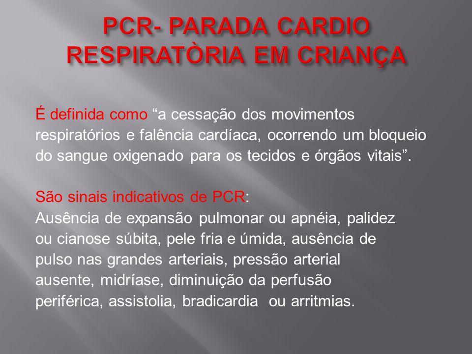 PCR- PARADA CARDIO RESPIRATÒRIA EM CRIANÇA