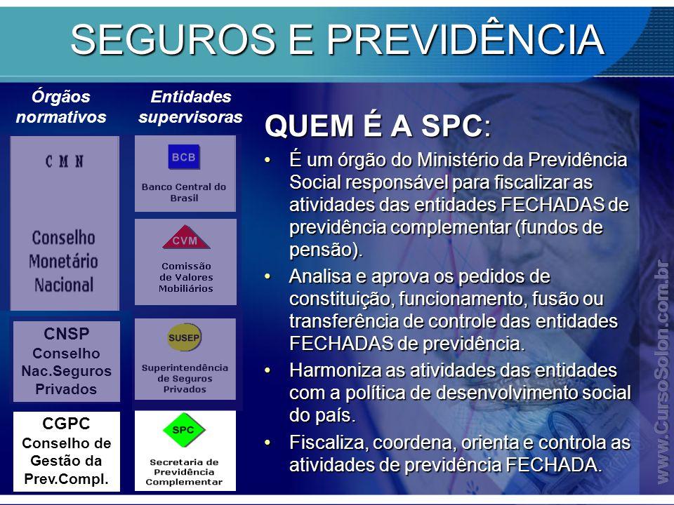 SEGUROS E PREVIDÊNCIA QUEM É A SPC: