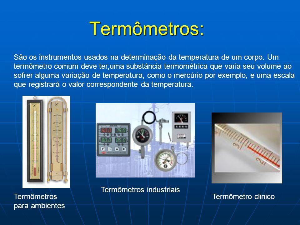 Termômetros: