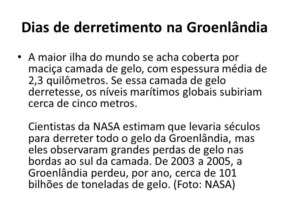 Dias de derretimento na Groenlândia