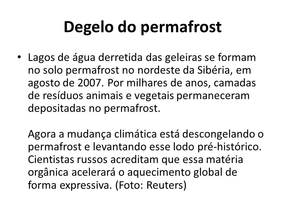 Degelo do permafrost